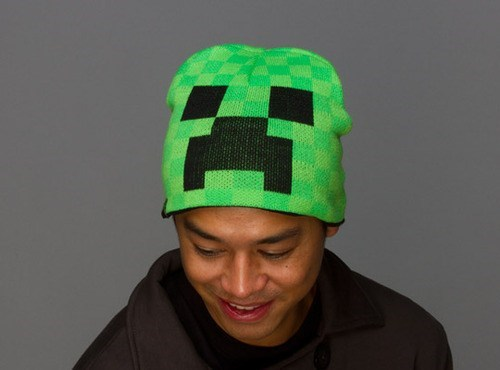 cap creeper hat knit minecraft - 6611513600