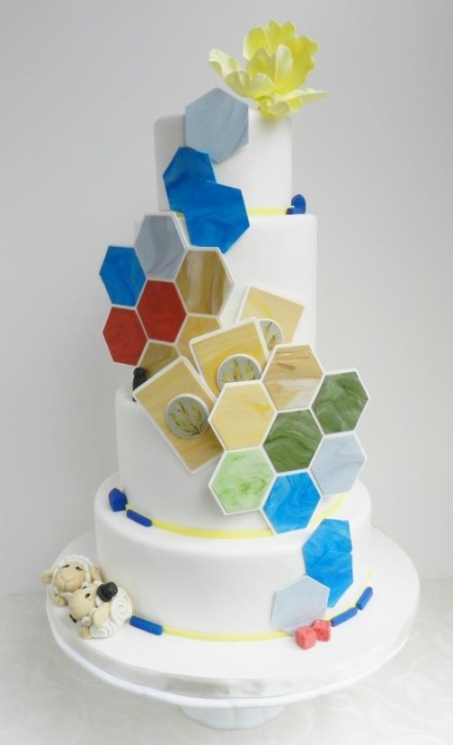 cake fondant game settlers of catan sheep - 6611526144