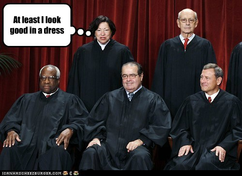 sonia sotomayor stephen breyer clarence thomas antonin scalia John Roberts Supreme Court justices dress look good