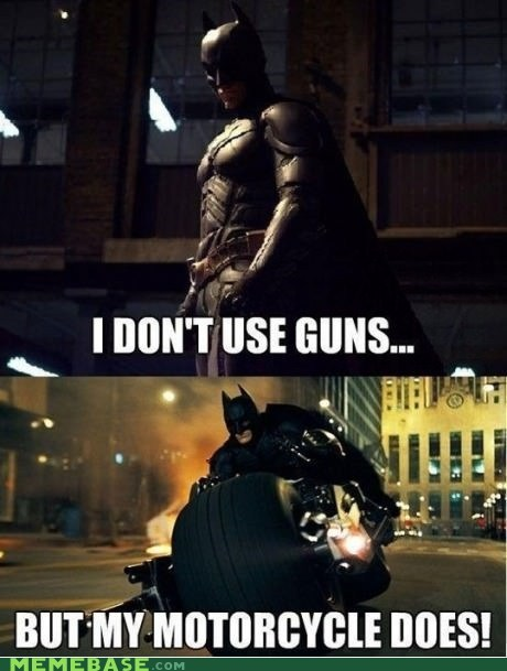 batman,guns,motorcycle