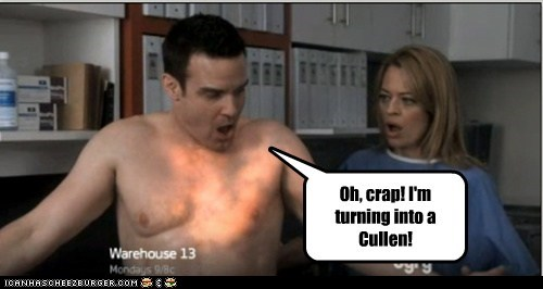 pete lattimer eddie mcclintock crap turning sparkling cullen twilight scared warehouse 13 - 6612051712