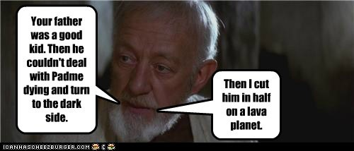 obi-wan kenobi,Alec Guinness,star wars,dark side,lava,anakin skywalker,planet,Father