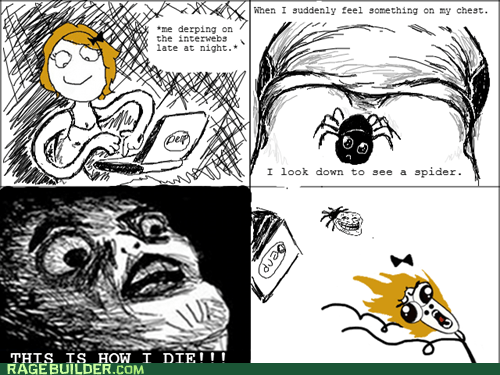 omg run,raisin face,spider