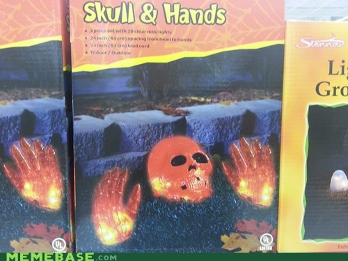 halloween skull and hands Badass - 6612527104