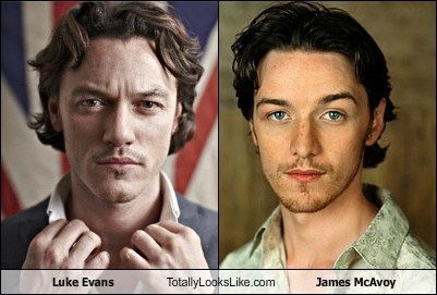 actor,celeb,funny,james mcavoy,Luke Evans,TLL