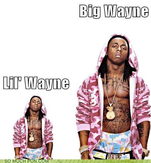 big,lil wayne,literalism,little,opposites,size