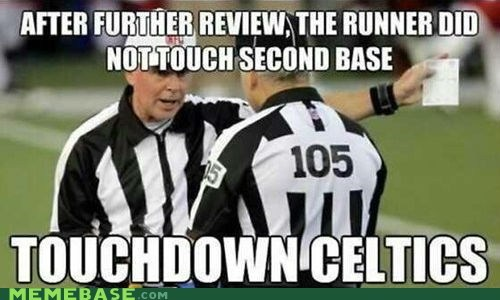 celtics football ref refs suck sports the Big Game the game last night - 6612812544
