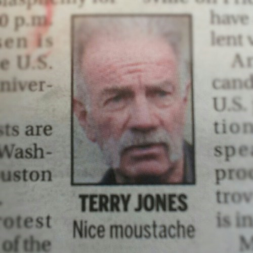 moustache,newspaper