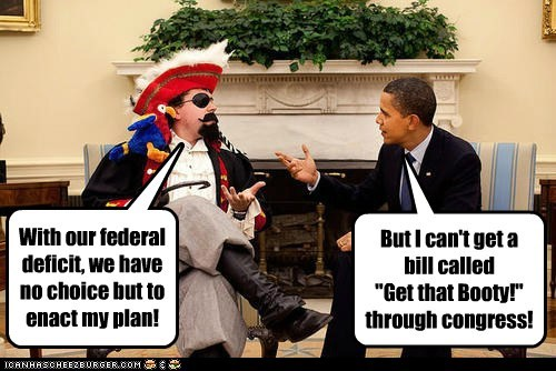 pirates solutions deficit plan booty barack obama Congress bill - 6612843520