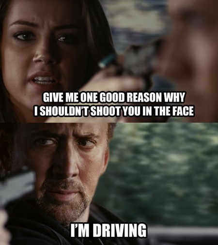 driving,Movie,nicolas cage,shoot