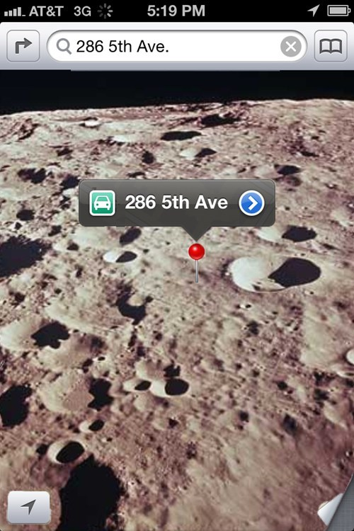 apple ios6 Maps moon THE MOON THO