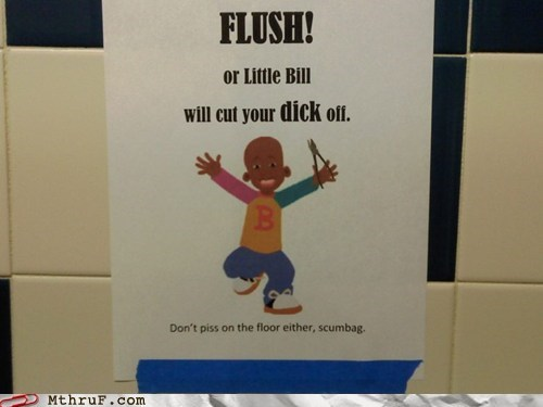 bathrooms little bill flushing