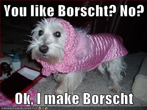You like Borscht? No? Ok, I make Borscht