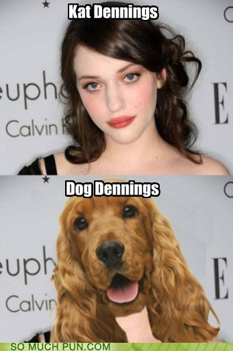 after before cat dogs homophone Kat Dennings name opposites shoop