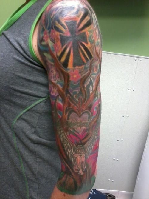 arm tattoos cross - 6613177856