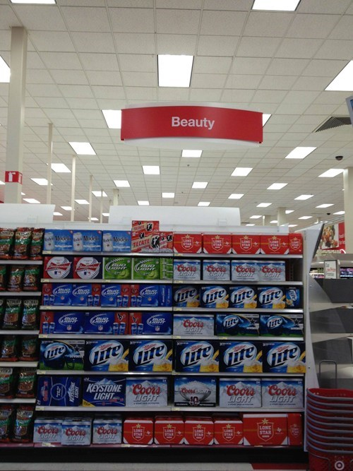beauty products,beer,miller lite