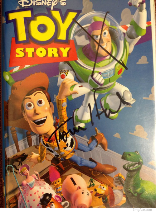 autographs tom hanks toy story