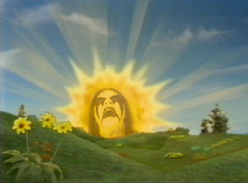 black metal,sun,teletubbies
