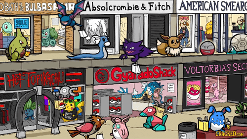 mall names Pokémon similar sounding variations on a theme - 6613315072