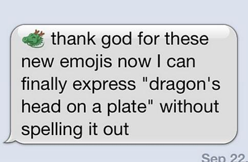 dragon emojis emoticons finally iPhones