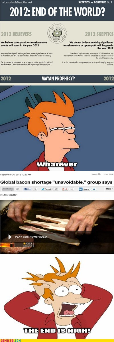 2012 apocalypse bacon Dear God No mayan apocalypse were-doomed - 6613461248
