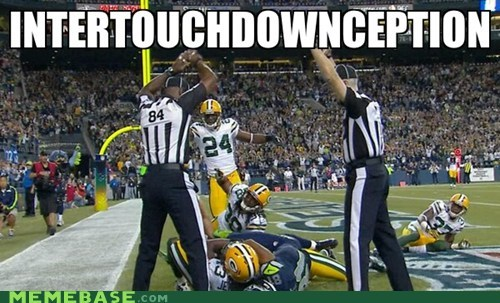 football interception referee touchdown - 6613474048