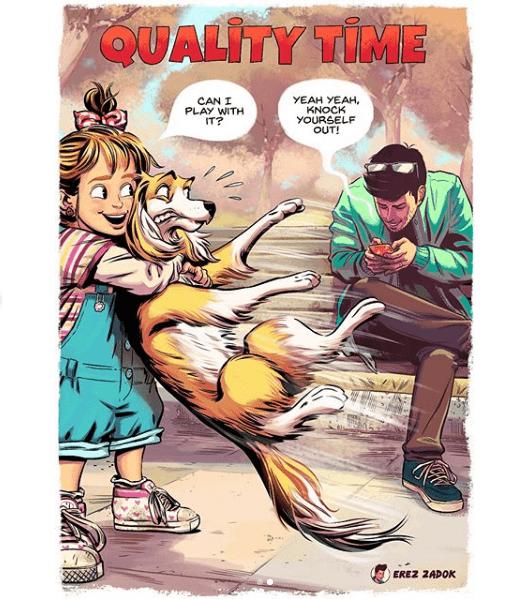 Comic Average Dog Owner