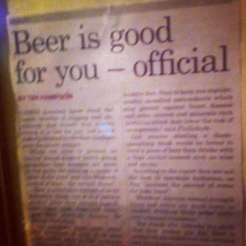 beer is good for you,big news,end of debate,official