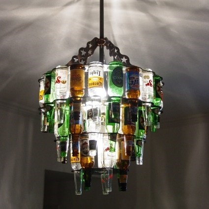 beer chandeliers light fixture sloshed swag