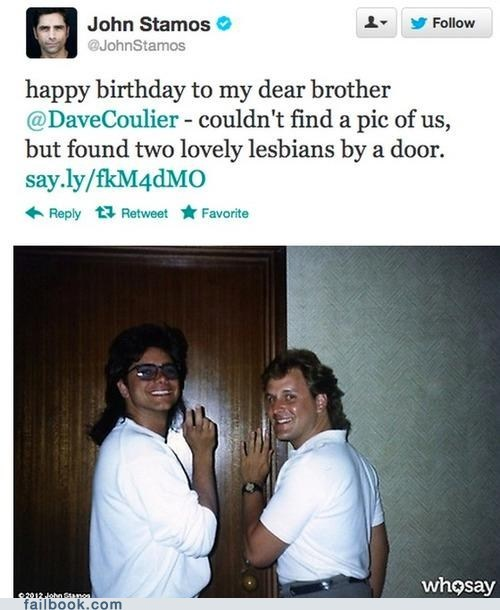 john stamos lesbians tweet twitter - 6613617408
