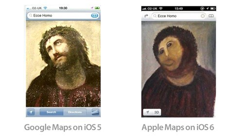 apple,apple maps,ecce homo,ios 6,potato jesus