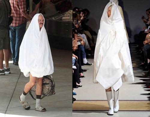 arrested development,bedsheet,comme des garcons,fashion,style