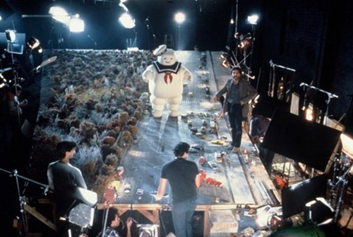 behind the scenes pic,Ghostbusters