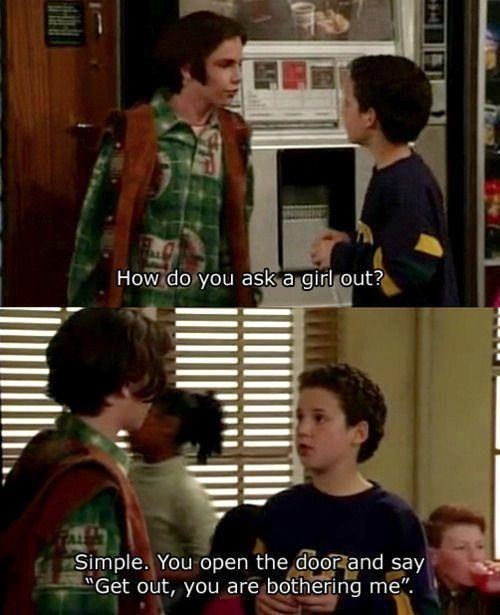 asking a girl out boy meets world cory matthews get out simple