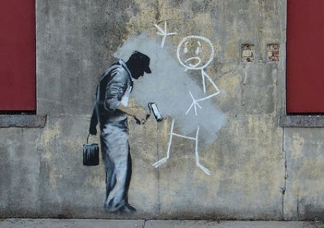 banksy cover up hacked irl Street Art - 6613821696