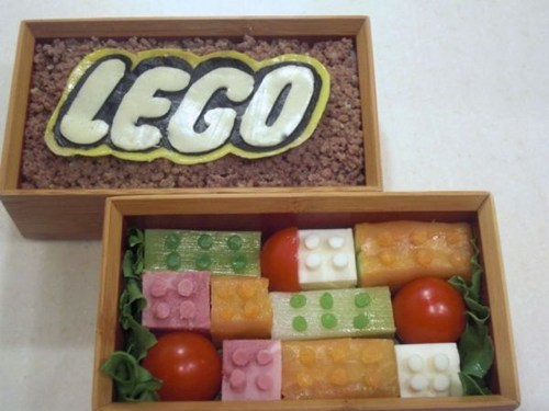 bento food lego lunch nerdgasm noms - 6613829632