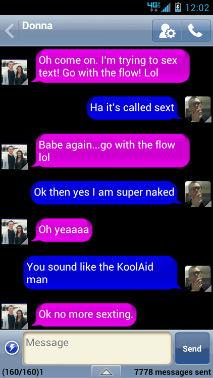 go with the flow,kool-aid man,not sexy,sexting,super naked