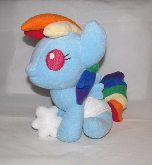 baby IRL Plushie rainbow dash - 6614393344