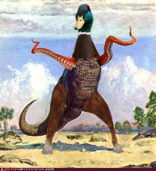 t rex octopus photoshop dinosaur - 6614426368