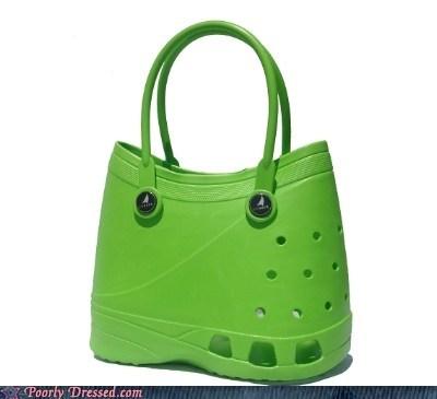 crocs,purse