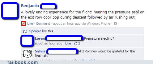 47 percent airplane cabin pressure flying Mitt Romney turbulence - 6614650624