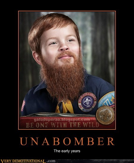 beard boy scout kid unibomber - 6615381504