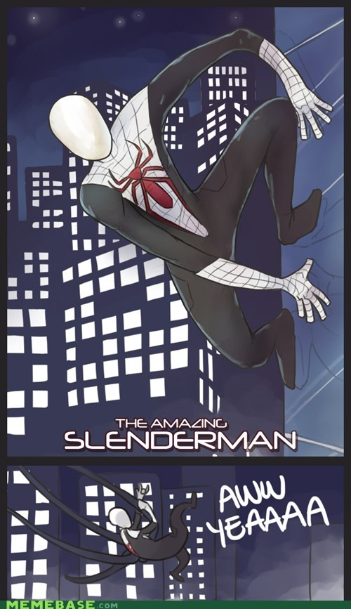 art,creepy,hero,slenderman,Spider-Man,villain