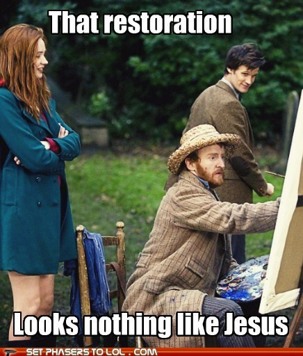 amy pond,karen gillan,doctor who,restoration,potato jesus,Matt Smith,the doctor,Vincent van Gogh