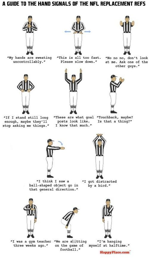 football,nfl,replacement refs,sports