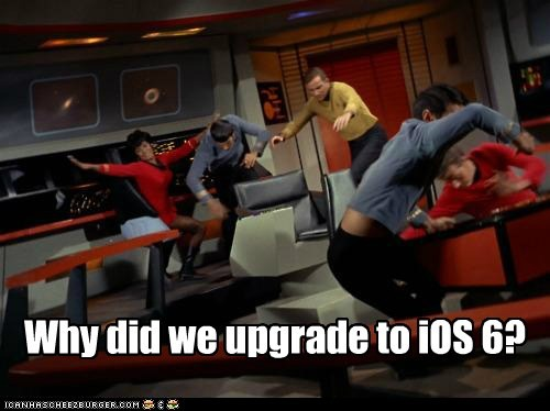 William Shatner,Shatnerday,Captain Kirk,uhura,Nichelle Nichols,Spock,Leonard Nimoy,crash,upgrade,ios 6,Maps,Star Trek