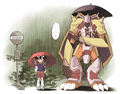 crossover,digifriday,digimon,my neighbor totoro,tai,wargreymon