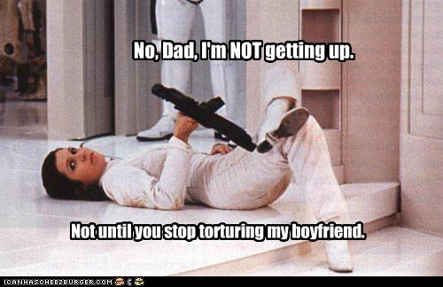 boyfriend torturing star wars teenager rebellion carrie fisher dad Princess Leia darth vader - 6616143616