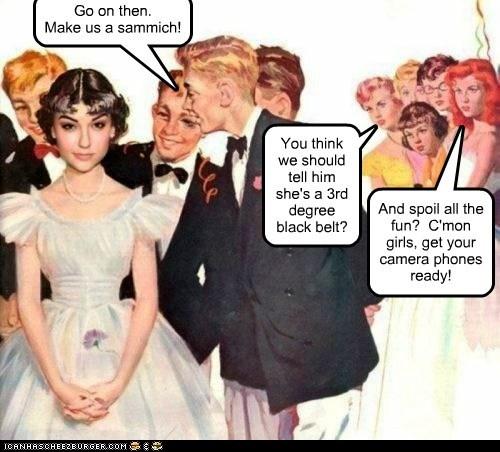 Misogyny black belt scum flirt sexist - 6616262400