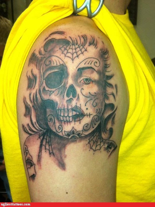 marylin monroe,sugar skulls